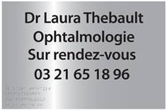 Plaque Professionnelle avec Braille et Relief - Couleur Argent