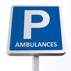 Kit de panneau de parking pour ambulances