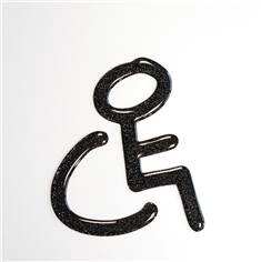 Pictogramme Toilettes Handicapés en Doming - Gamme Shiny®