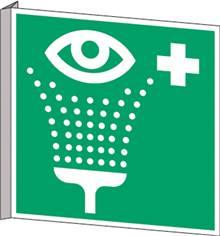 Drapeau Rinçage des yeux - E011D
