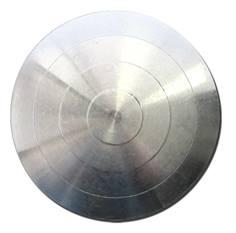 150 plots podotactiles adhésifs en Aluminium - Pour couvrir une surface de 420 x 1000 mm