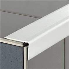 Nez de marche Aluminium anodisé auto-adhésif - Trafic Tertiaire - Long 3 mètres