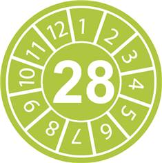 Pastilles calendrier 28