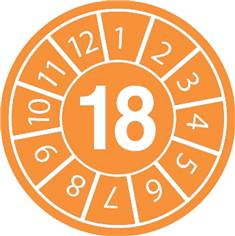 Pastilles calendrier 18