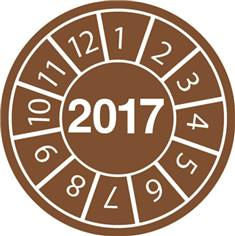 Pastilles calendrier 2017