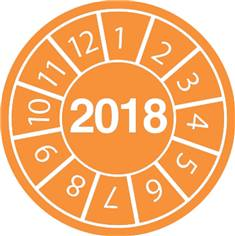 Pastilles calendrier 2018