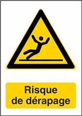 Panneau Attention Risque de Dérapage - W011F