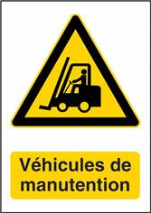 Autocollant Danger Véhicules de Manutention - W014F