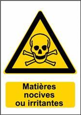 Sticker Danger Matières Nocives ou irritantes - W016F