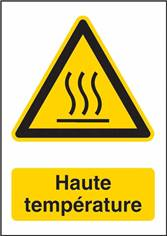Panneau Danger Haute Température - W017F