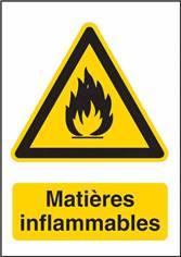 Signalétique Matières Inflammables - W021F