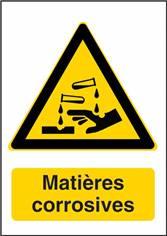 Signalisation Danger Matières Corrosives - W023F