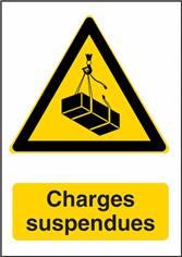 Panneau Danger Charges Suspendues - W015F