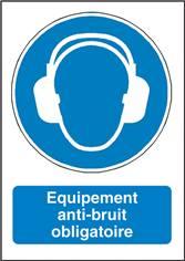 Signalisation Equipement Anti-Bruit Obligatoire - M003F