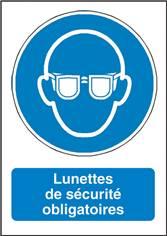 Signalisation Lunettes de Sécurité Obligatoires - M004F
