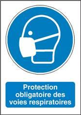 Signalisation Protection Obligatoire des Voies Respiratoires - M016F