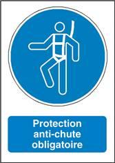 Signalisation Protection Anti-Chute Obligatoire - M018F