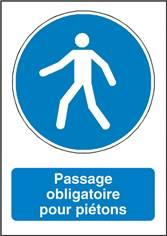 Signalisation Passage Obligatoire pour les Piétons - M024F