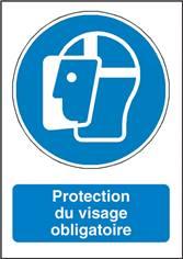 Signalisation Protection du visage obligatoire - M013F