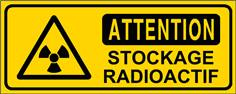 Attention stockage radioactif - STF 3307S