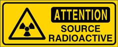 Attention source radioactive - STF 3309S