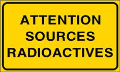 Attention sources radioactives - STF 3317S