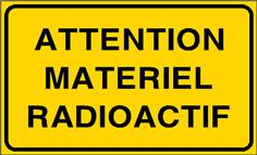Attention Matériel radioactif - STF 3318S