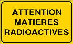 Attention matières radioactives - STF 3319S