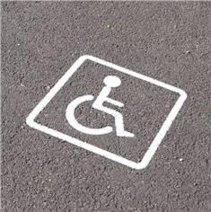 Pochoirs handicapés pour marquage de parking - Picto 300 x 250 mm