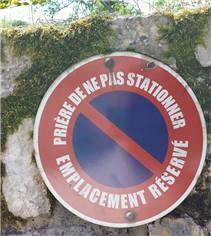 Panneau Défense de Stationner Emplacement Réservé - PVC 2 mm - Vintage