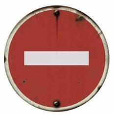 Panneau Sens Interdit - PVC 2 mm - Vintage