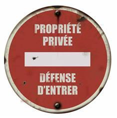 Panneau Propriété Privée - PVC 2 mm - Vintage