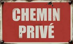Panneau Chemin Privé - Vintage