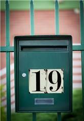 Numéro de Maison Beige - H 90 x L 65 mm - Vintage