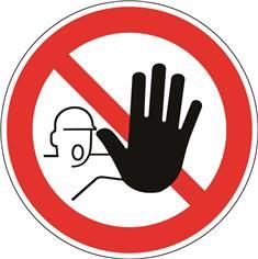 Entrée interdite aux personnes non autorisées - STF 3202S