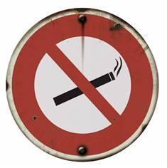 Panneau Défense de Fumer - PVC 2 mm - Vintage