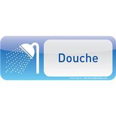 Plaque de porte Douche Text´icone® - H 60 x L 160 mm