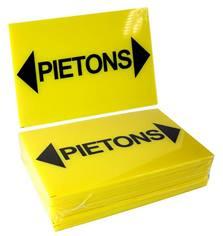 Signalisation Piétons avec Flèches de chaque côté - Lot de 25
