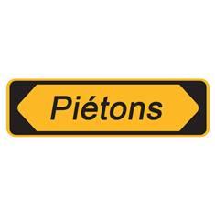 Panneau de chantier Piétons avec cache - H 300 x L 1000 mm