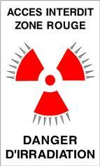 Panneau Accès Interdit Zone Rouge Danger d´Irradiation - STF 3326S