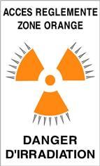 Panneau Accès Réglementé Zone Orange Danger d´Irradiation - STF 3332S