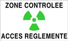 Panneau Accès Réglementé Zone Verte Contrôlée - STF 3335S