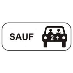 Panonceau Stationnement Autorisé que pour les Véhicules de Covoiturage - M6k2