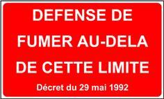 Panneau Défense de Fumer Au-delà de cette limite avec décret - STF 3604S
