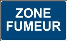 Panneau Zone Fumeur - STF 3607S