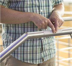 Manchon Arrondi pour Rampe en Braille et Relief