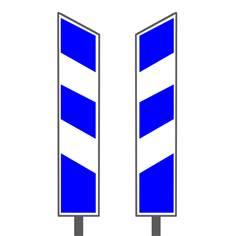 Balise J13 Bleue et blanche - Certifiée NF Classe 2