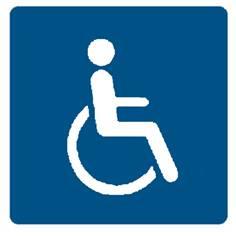 Pictogramme verre trempé - Toilettes Handicapés - 150 x 150 mm - Gamme Glass