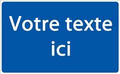 Panneau de Parking Personnalisé - Fond bleu Texte blanc - H 250 x L 400 mm