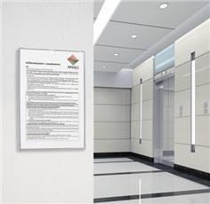 porte affiches transparent porte documents mural. Black Bedroom Furniture Sets. Home Design Ideas